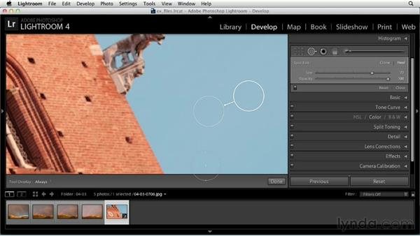 Removing spots: Up and Running with Lightroom 4