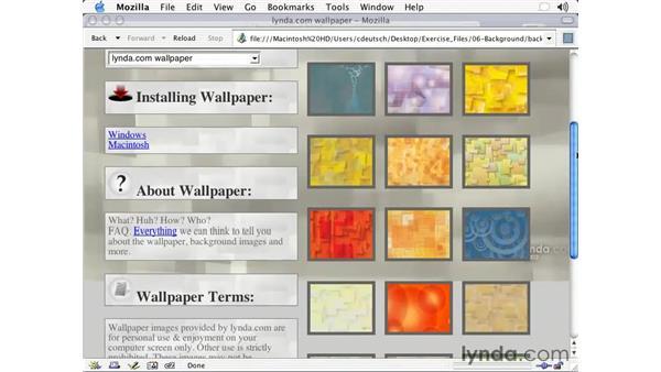 background attachment: CSS2 Essential Training (2003)