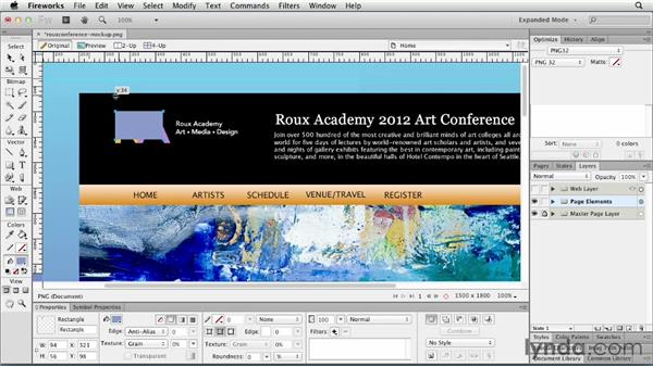 Setting up rulers, guides, and grids: Fireworks CS6 Essential Training