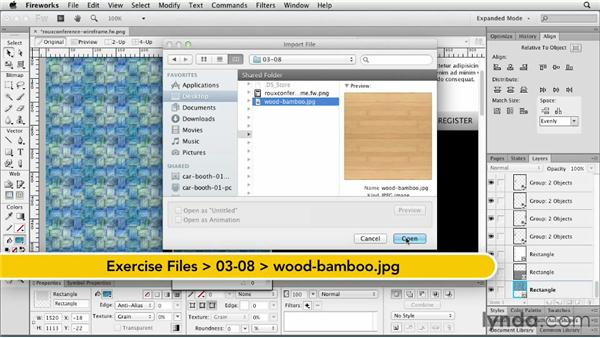 Styling with patterns and textures: Fireworks CS6 Essential Training