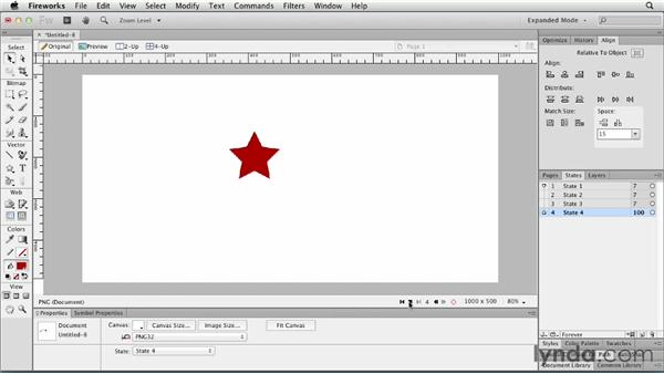 Animating objects with states: Fireworks CS6 Essential Training