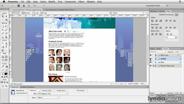 Working with pages: Fireworks CS6 Essential Training