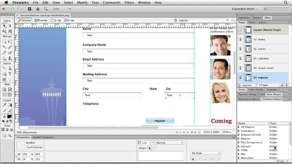 Using the Common Library: Fireworks CS6 Essential Training