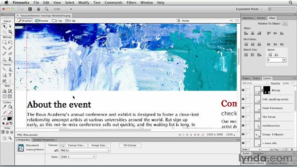Using CSS tools in the Object panel: Fireworks CS6 Essential Training