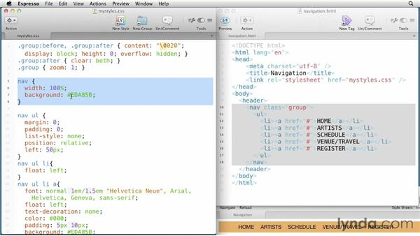 Working with the CSS Properties panel: Fireworks CS6 Essential Training