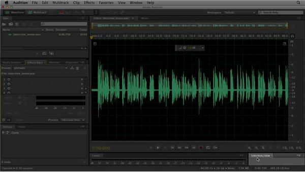 Understanding the Audition interface: Audition CS6 Essential Training