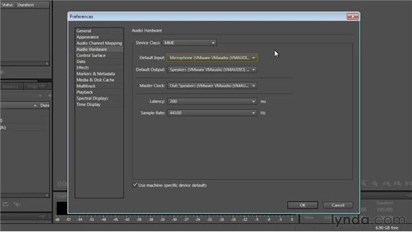 Setting up input and output: Audition CS6 Essential Training