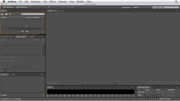 Importing audio files: Audition CS6 Essential Training