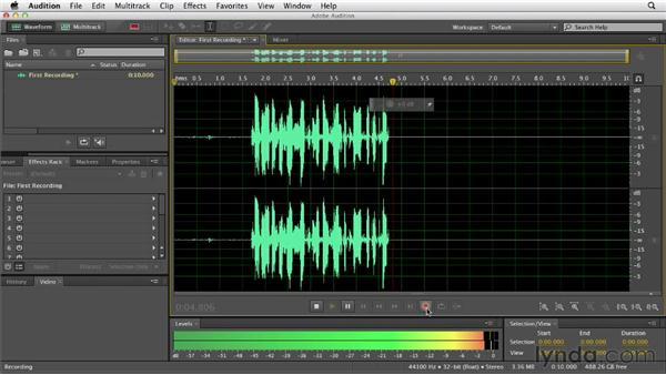 Recording audio: Audition CS6 Essential Training