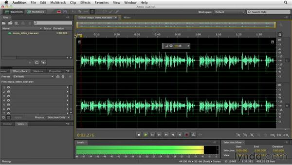 Understanding the Waveform Editor interface: Audition CS6 Essential Training