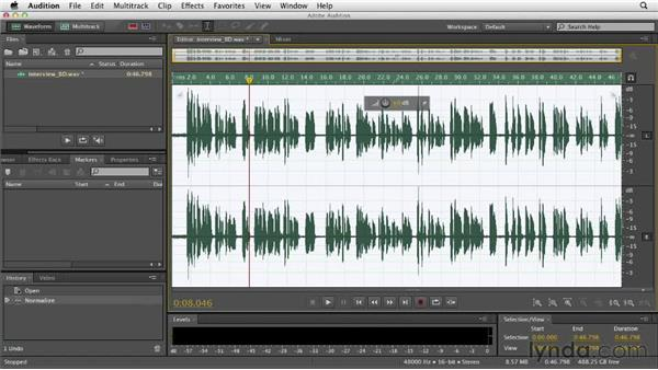 Normalizing: Audition CS6 Essential Training