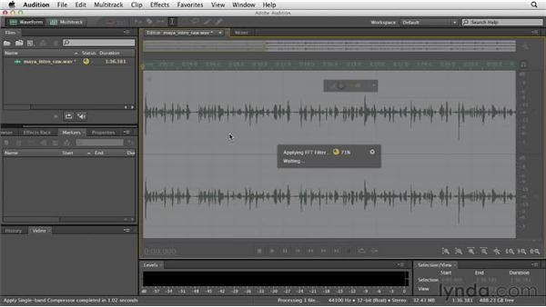Undoing, redoing, and using the History panel: Audition CS6 Essential Training