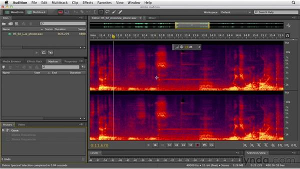Using the selection tools: Audition CS6 Essential Training