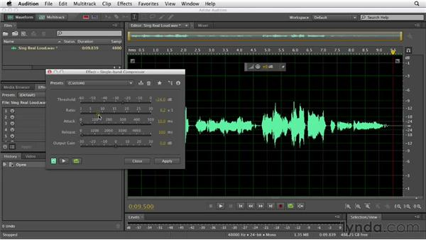 Applying compression: Audition CS6 Essential Training