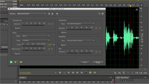 Using special effects: Audition CS6 Essential Training