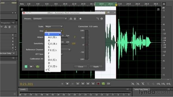 Working with time and pitch effects: Audition CS6 Essential Training