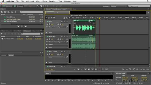 Recording and importing audio: Audition CS6 Essential Training