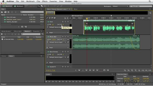 Understanding the multitrack interface: Audition CS6 Essential Training