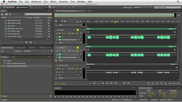 Creating bus groups: Audition CS6 Essential Training