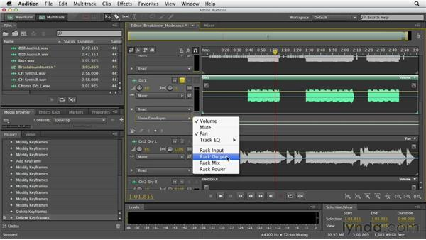 Using automation: Audition CS6 Essential Training