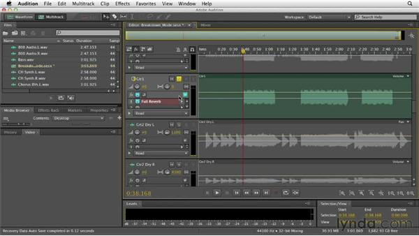 Pre-rendering tracks: Audition CS6 Essential Training