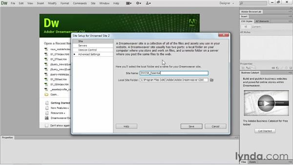 Using the exercise files: Dreamweaver CS6 Essential Training