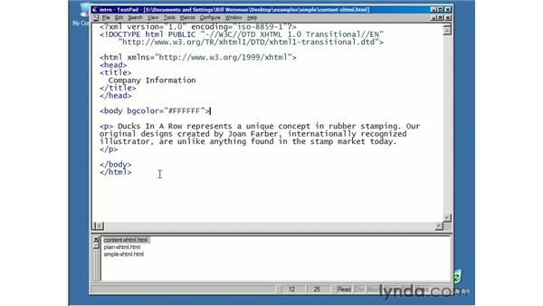 introduction: XHTML Essential Training