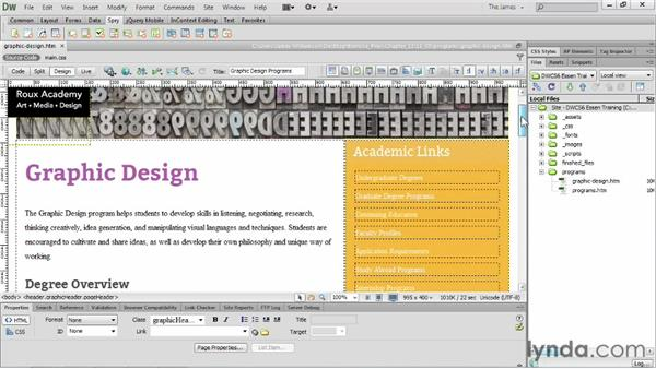 Using Spry widgets : Dreamweaver CS6 Essential Training