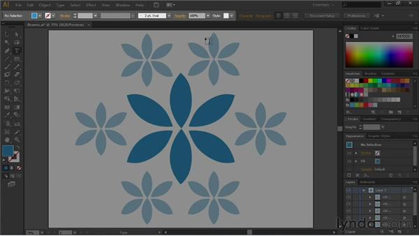 Working with the Control panel: Illustrator CS6 Essential Training