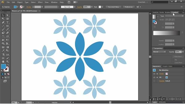 Creating and saving workspaces: Illustrator CS6 Essential Training