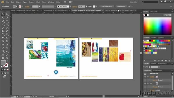 Managing multiple documents: Illustrator CS6 Essential Training