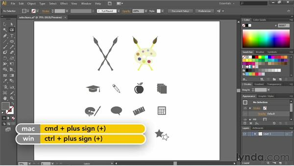 Using the Lasso tool: Illustrator CS6 Essential Training
