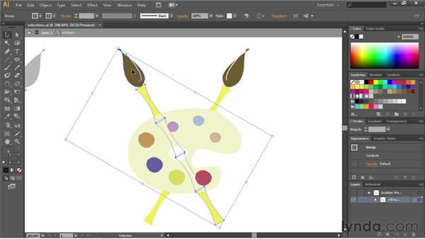 Using isolation mode: Illustrator CS6 Essential Training