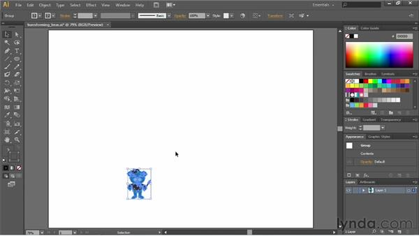 Resizing your artwork: Illustrator CS6 Essential Training