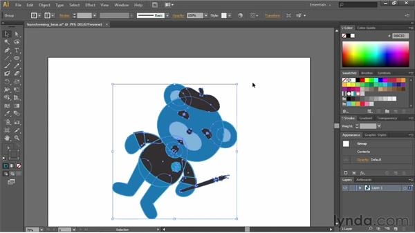 Rotating objects: Illustrator CS6 Essential Training