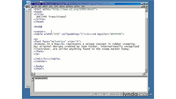 outer document containers: XHTML Essential Training