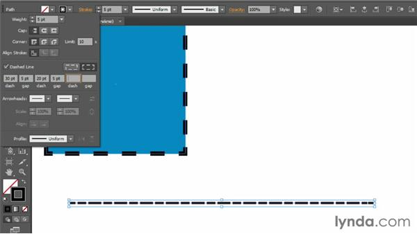 Creating dashes and arrows: Illustrator CS6 Essential Training