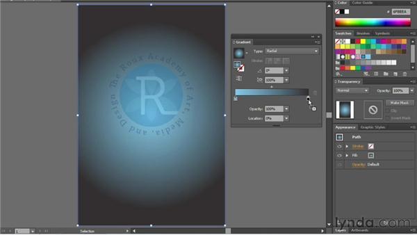 Creating and editing gradients: Illustrator CS6 Essential Training