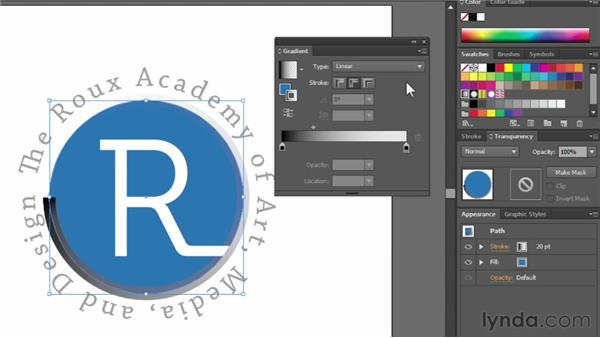 Applying gradients to strokes: Illustrator CS6 Essential Training