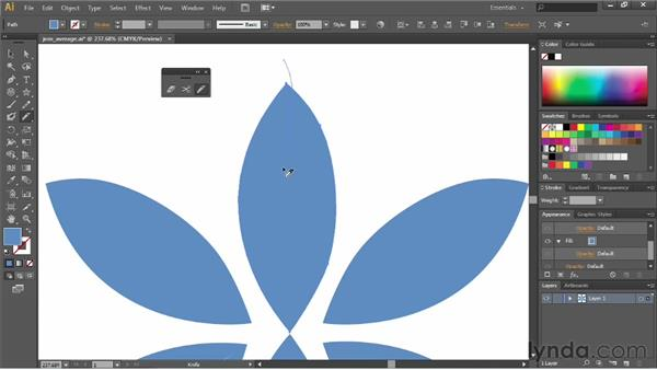 Using the Scissors tool and the Knife tool: Illustrator CS6 Essential Training