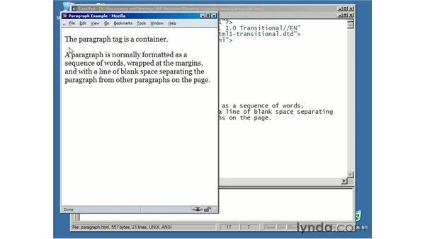 paragraphs: XHTML Essential Training