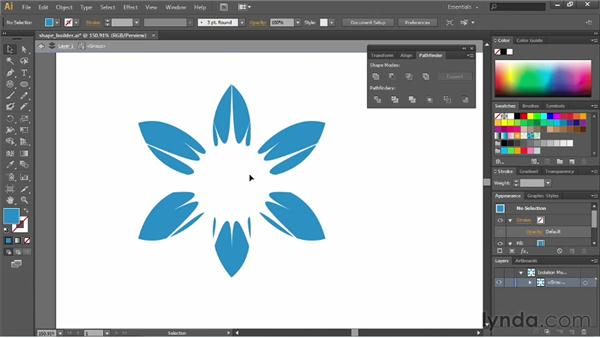 Creating compound paths: Illustrator CS6 Essential Training