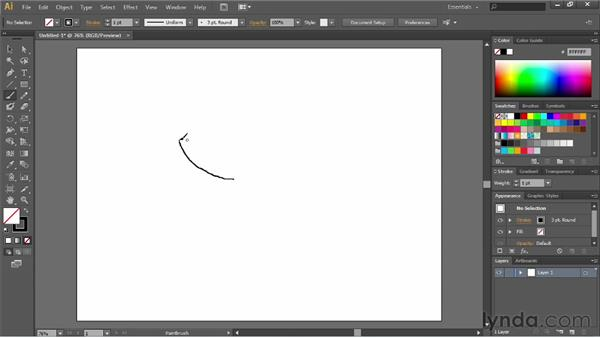 Working with the Paintbrush and Pencil tools: Illustrator CS6 Essential Training