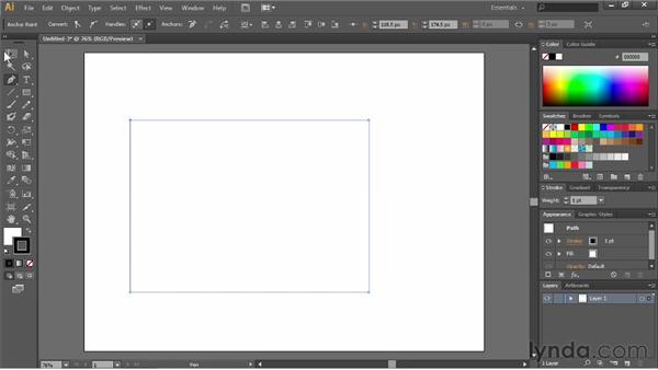 Drawing straight lines: Illustrator CS6 Essential Training