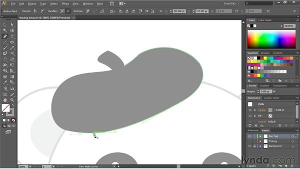 Tracing artwork with the Pen tool: Illustrator CS6 Essential Training