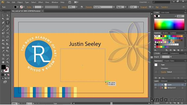 Creating point and area text: Illustrator CS6 Essential Training