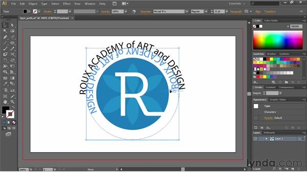 Creating text on a path: Illustrator CS6 Essential Training