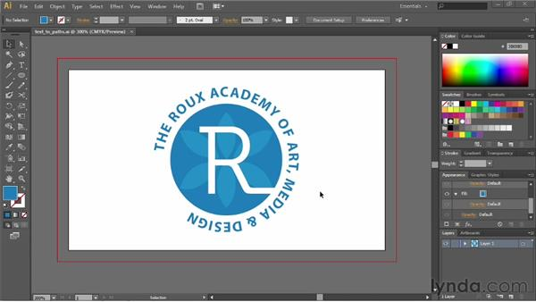 Converting text into paths: Illustrator CS6 Essential Training
