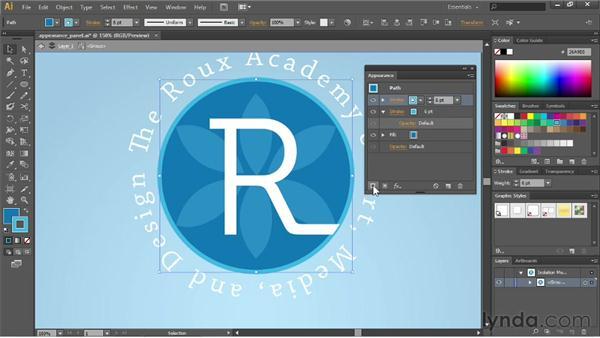 Applying multiple strokes: Illustrator CS6 Essential Training