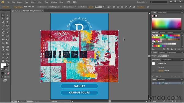 Placing images into Illustrator: Illustrator CS6 Essential Training